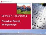 Fornybar Energi - Universitetet i Agder