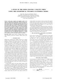 A Study of the MIMO Channel Capacity When Using the Geometrical ...