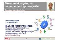 Hjort Christensen - Universitetet i Agder