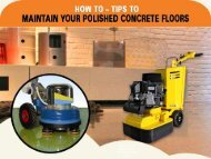 Maintain Polished Concrete Floors – Concrete Solutions