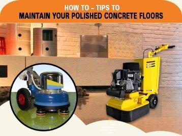 Maintain Polished Concrete Floors – Concrete Solutions