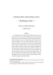 Currency flows and currency crises — Preliminary draft - UIB Congres