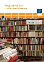 Perspektiven der Literaturvermittlung - Universität Innsbruck