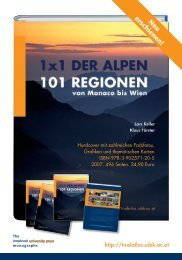 Infofolder Tirol Atlas - Universität Innsbruck