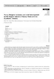 Young Neogene tectonics and relief development on the Aegean ...