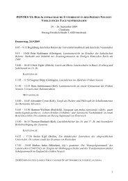 9:15 Begrüßung - Universität Innsbruck