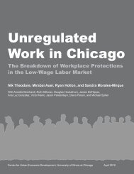 Unregulated Work in Chicago - University of Illinois at Chicago
