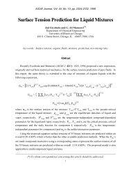 Surface Tension Prediction for Liquid Mixtures - University of Illinois ...