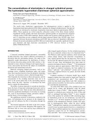 The concentrations of electrolytes in charged cylindrical pores: The ...