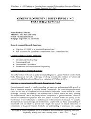 geoenvironmental issues involving unsaturated soils - University of ...