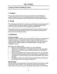 CUPPA Computer Incident Handling Procedure - University of ...