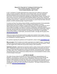 Request for Proposals for Funding by the UIC Green Fee Letter of ...