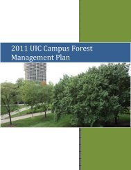 2011 UIC Campus Forest Management Plan - University of Illinois at ...