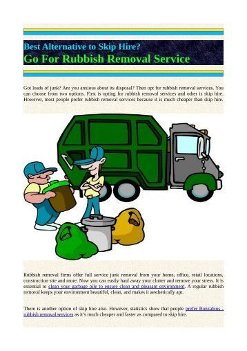 Best Alternative to Skip Hire? Go for Rubbish Removal Service