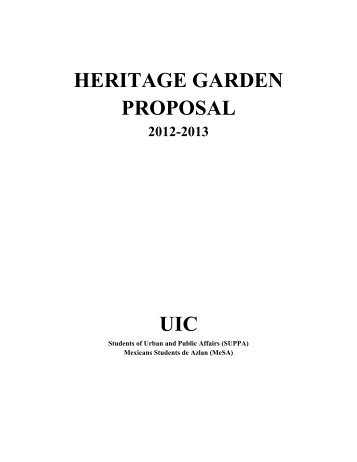 Read the full proposal PDF - University of Illinois at Chicago