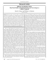 Dual-task studies of simulated driving and - Villanova University