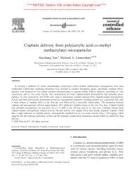Cisplatin delivery from poly(acrylic acid-co-methyl methacrylate ...