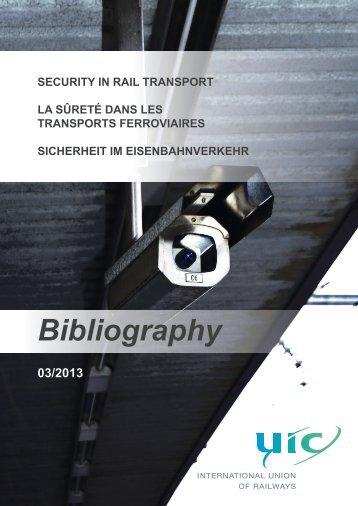 Sicherheit im Eisenbahnverkehr - UIC