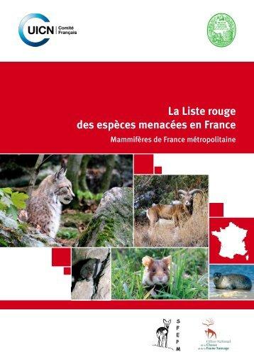 La Liste rouge des espèces menacées en France - Comité français ...