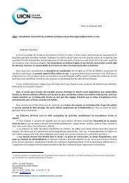 Paris, le 25 février 2011 Objet : Consultation concernant les ...