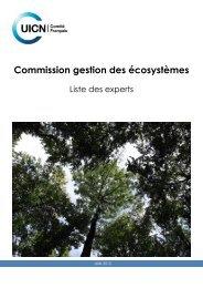 Liste experts CGE juin 2012 - Comité français de l'UICN