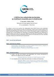 programme du colloque - Comité français de l'UICN