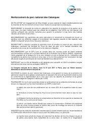 Renforcement du parc national des Calanques - Comité français de ...