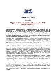 Stopper l'extinction de la biodiversité en France en 2010 : réalités ou ...