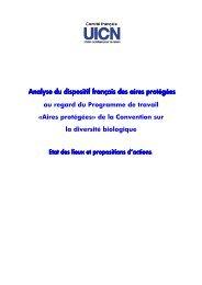 Rapport UICN France sur le dispositif français