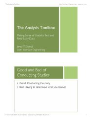 The Analysis Toolbox - User Interface Engineering