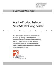 Are the Product Lists on Your Site Reducing Sales? - User Interface ...