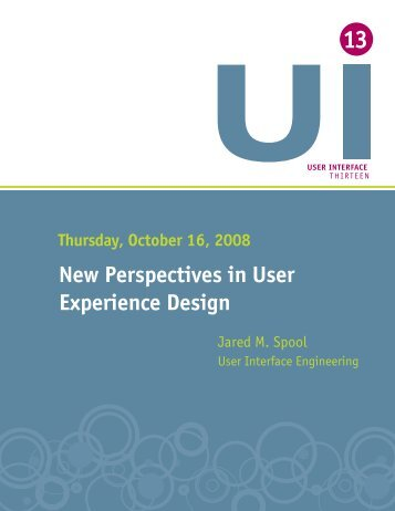 New Perspectives in User Experience Design - User Interface ...
