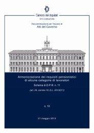 AG n. 11 Dossier Servizio Studi Camera - UIL-PA/Corpo Forestale ...