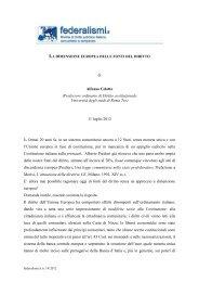 LA DIMENSIONE EUROPEA DELLE FONTI DEL DIRITTO di Alfonso ...