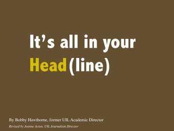 Its all in your Head(line)