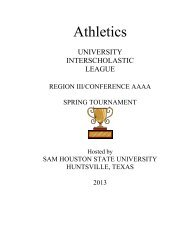 Athletic Handbook 2013 - University Interscholastic League