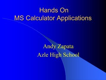 Calculator Applications