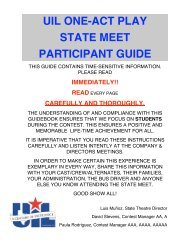 uil one-act play state meet participant guide - University ...
