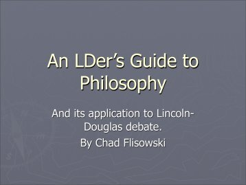 An LDer's Guide to Philosophy
