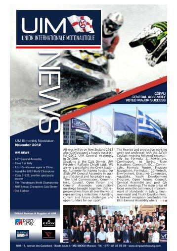 Newsletter 20 / 2012 - UIM