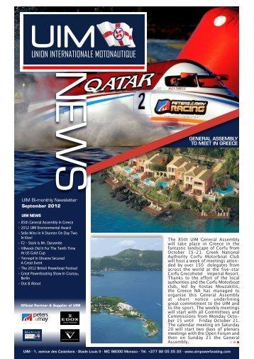 Newsletter 19 / 2012 - UIM