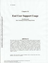 End User Support Usage