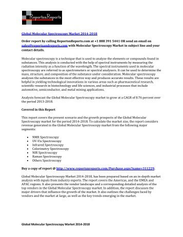 2018 Global Molecular Spectroscopy Industry Forecast & Analysis