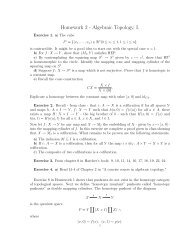 Homework 2 - Algebraic Topology, I.