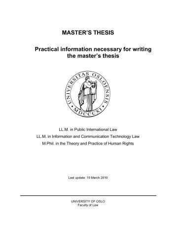 master degree thesis outline