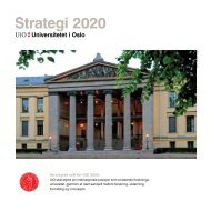 Strategi 2020 - Universitetet i Oslo