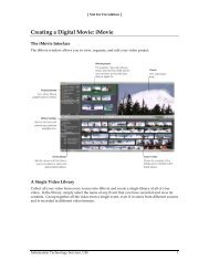 Creating a Digital Movie: iMovie