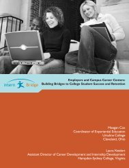 Employers and Campus Career Centers
