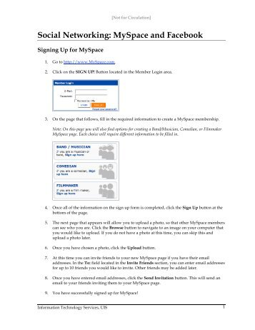 Social Networking: MySpace and Facebook