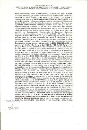 Contrato DC-023-06 entre la Universidad Industrial de Santander y ...